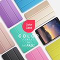 Color Smart Case For Xiaomi Mipad 2 Ultra-thin Folding Intelligent Flip PU Leather Case With Crystal Cover