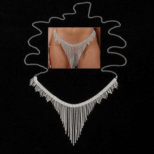 New Women Sexy Belly Tassel Dress Waist Belt Rhinestone Body Chain Skirt Fashion Jewelry(China)