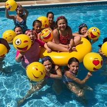 "New 12pcs 12"" Emoji Inflatable Beach Balls Beach Toy Ball Inflatable Bouncers Kids Toy(China)"