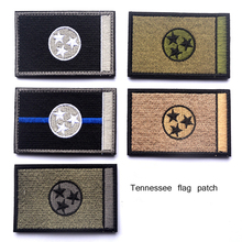 Embroidered USA Tennessee Flag Patches Army Badge Patch 3D Tactical Military Fabric Cloth Armband National American