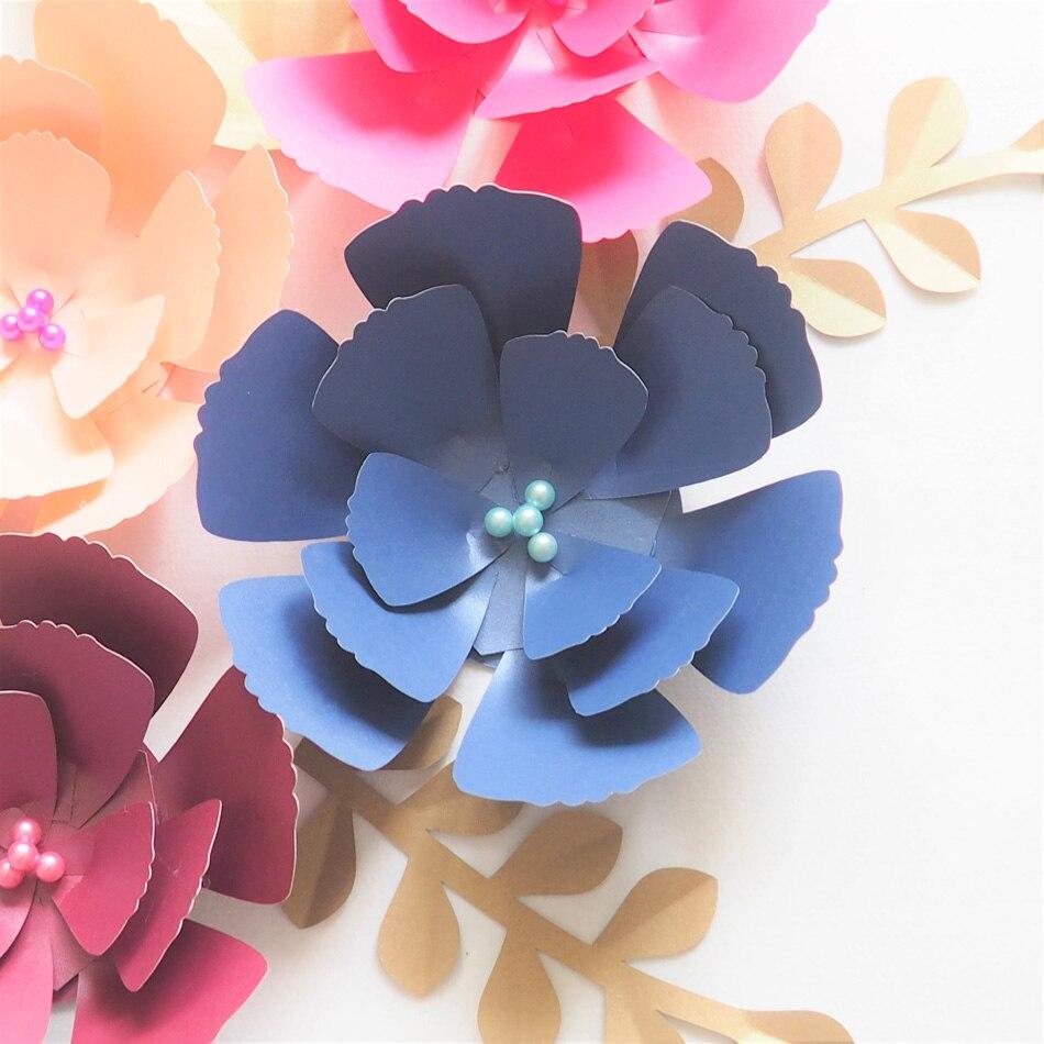 DIY Giant Paper Flowers Backdrop Artificial Handmade Paper Flower 7PCS+Leaves 7PCS Wedding & Party Deco Home Decoration Video