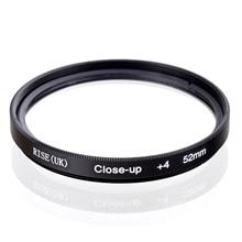 RISE (UK) 52mm makro + 4 filtrów dla wszystkich DSLR kamery cyfrowe 52MM obiektyw