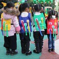 Baby Toy Children Outdoor Sports Game Vest Kindergarten Catching Tail Child Training Equipment 4 Pcs/lot