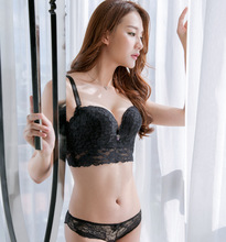 Embroidered Sexy Girl Bra Set no steel ring student underwear five-breasted bra gathered underwear AB size universal bra цена 2017