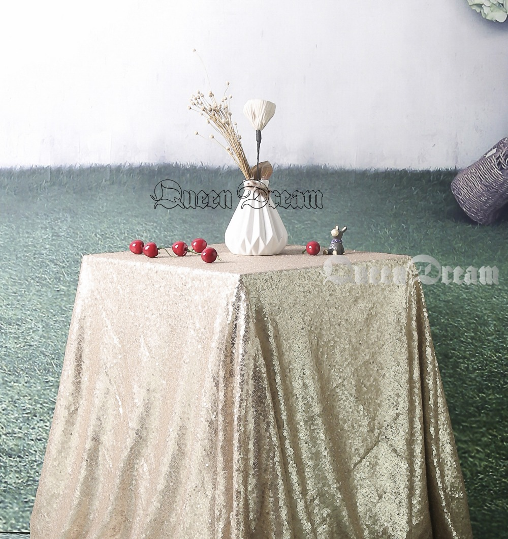 50x50 Champagne Square Tablecloth Linen Tablecloth Rectangle Tablecloth  Party Tablecloth Champagne Sparkle Tablecloth(China)