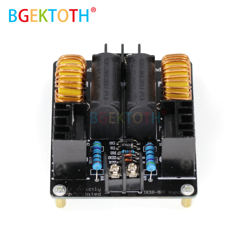 lowest price 1000W 20A ZVS Low Voltage Induction Heating Coil Module Flyback Driver Heater Large Heat Sink Module Heater