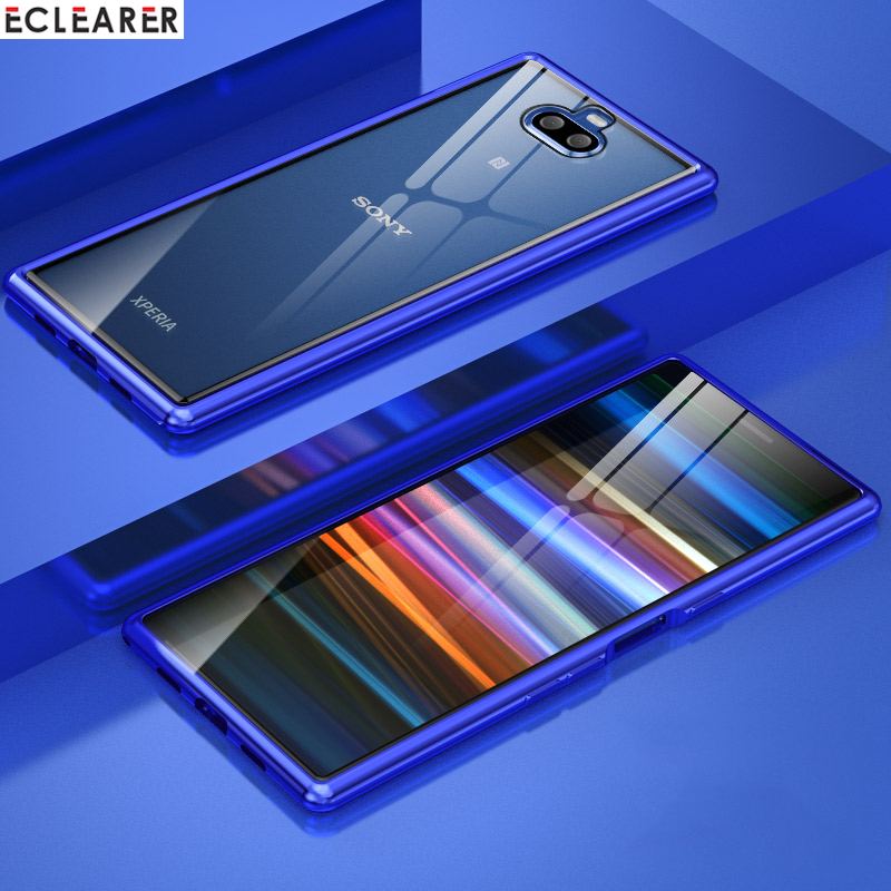 For Sony Xperia 10 Case Luxury Thin Aluminum Metal Bumper & Tempered Glass Back Cover Case For Sony Xperia 10/ 10 Plus Coque XA3For Sony Xperia 10 Case Luxury Thin Aluminum Metal Bumper & Tempered Glass Back Cover Case For Sony Xperia 10/ 10 Plus Coque XA3