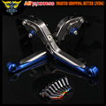 Blue+titanium 8 Colors CNC Adjustable Folding Extendable Motorcycle Brake Clutch Levers For BMW R NINE T 2014 2015 2016