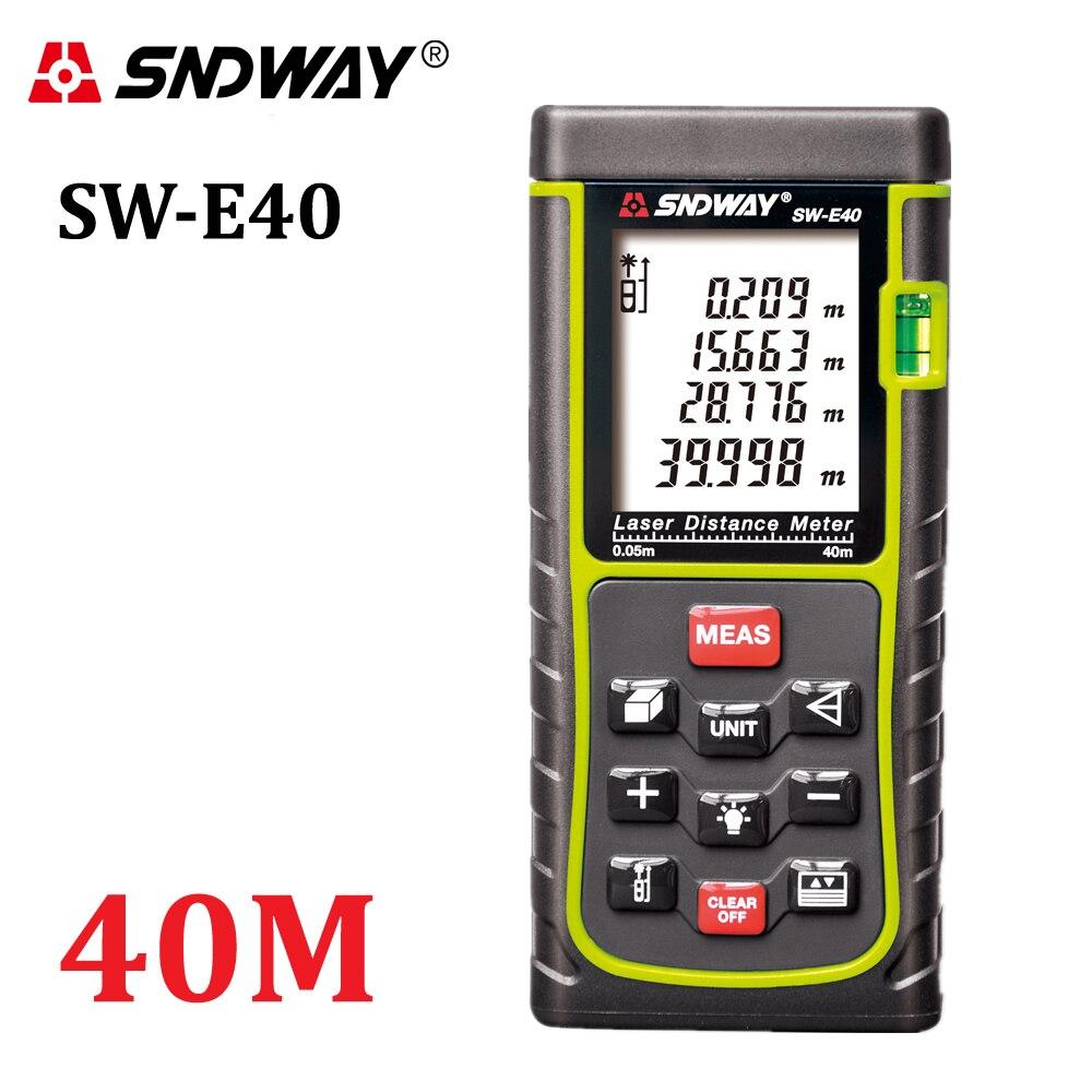 SNDWAY SW-E40 RZ40 131ft telémetro láser 40 m medidor de distancia Digital láser rango buscador de cinta área-herramienta probador de ángulo de volumen