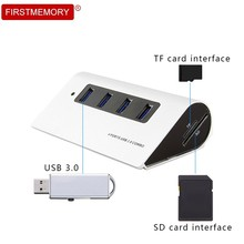 4 Port USB 3.0 HUB High Speed USB Hub With SD/TF Read Card  DC 5V/2A Power Input USB Splitter Adapter For PC Laptop Computer 10 port usb 3 0 hub 5v 2a power adapter usb hub 3 0 charger with switch multi usb splitter usb3 0 hub for macbook pc laptop