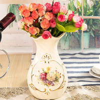 Light luxury small vase ceramic TV cabinet wine cabinet ornament decoration living room flower dried flower vase