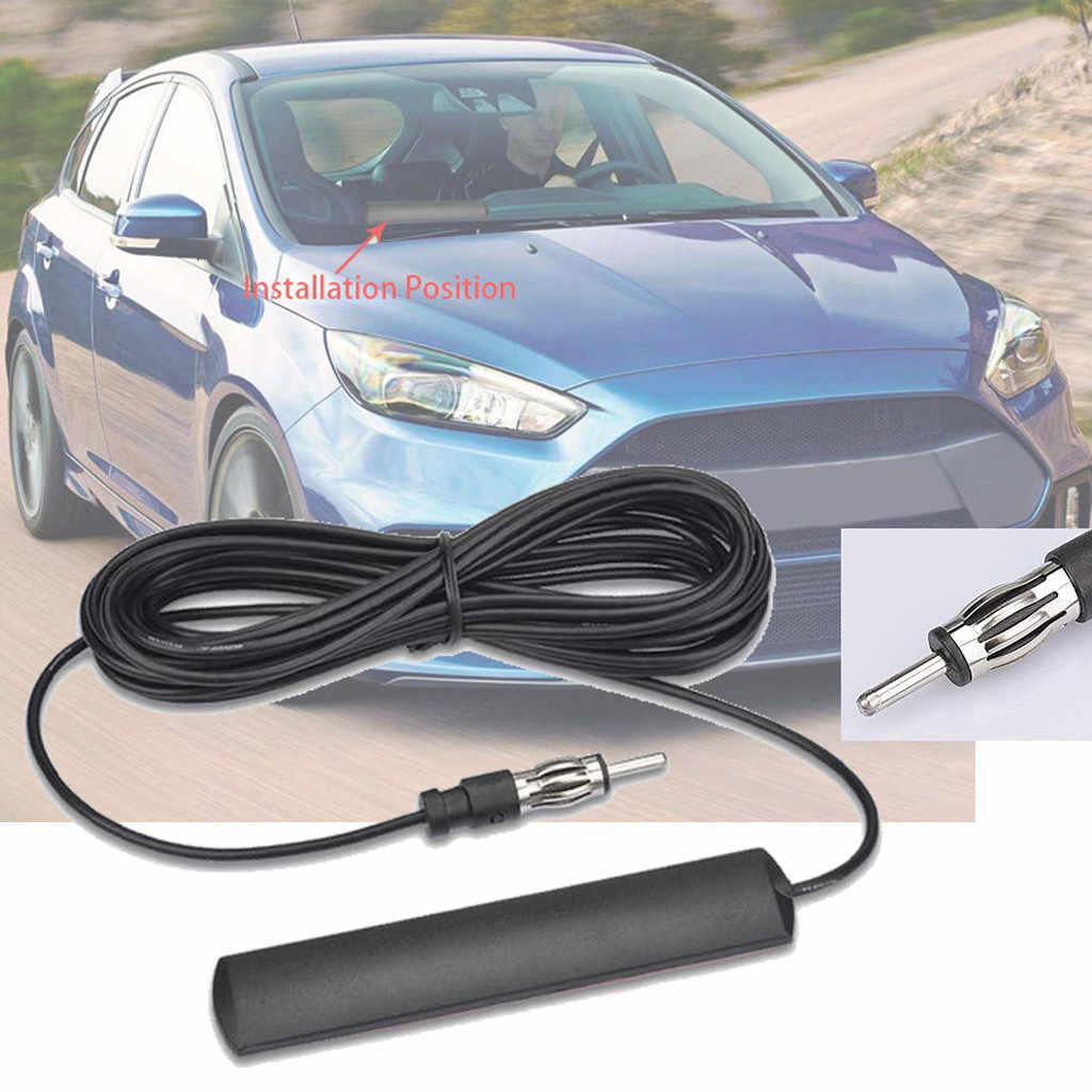 Universal Auto Car CFM Radio Antenna Patch Universal Windshield Paste 5m Length Signal Enhance Device 15