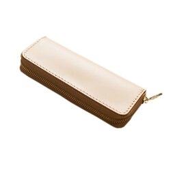 10 unidades para un lote hecho a mano de cuero real pluma Bolsas lápiz escuela papelería portátil bolso de la pluma de cuero
