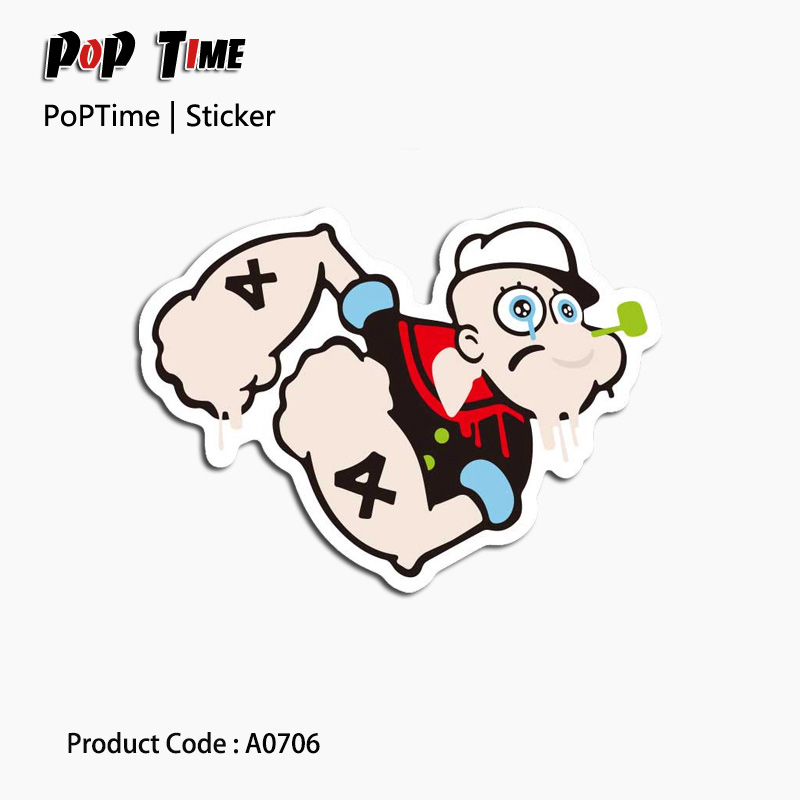 A0706 Stickers Popeye personality boxes laptop guitar Luggage Bicycle Motorcycle waterproof lovely suitcase waterproof