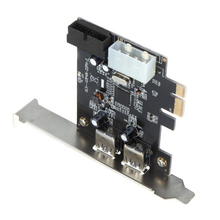 GTFS-SuperSpeed 2-Port USB 3.0 PCI-E PCI Express 19-pin USB3.0 4-pin IDE Connector Low Profile