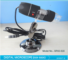 Discount! 50X-500X LED Illuminated USB Pocket Digital Microscope with Stand