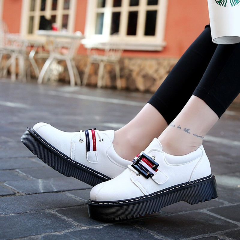 2017 Spring Autumn Platform Women Shoes Patent Leather Lace Up Shoes For Woman Casual Shoes Ladies Flats Zapatos Mujer S151 (27)