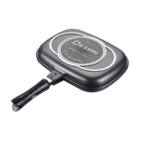 Double sided baking pan frying pan non stick pan barbecue pot steak pot kitchen cookware outdoor barbecue BBQ WF6261044