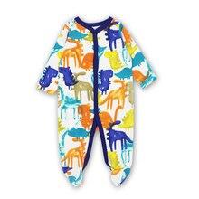 Cartoon Printed Long Sleeves Baby Pajamas