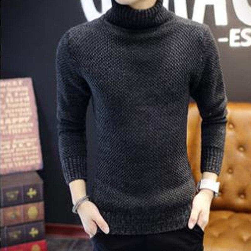 2019 Spring Autumn Sweater Men Korean Version Solid Color Pullover Men Sweater Warm Full Turtleneck Oodji Sweater Pull Homme