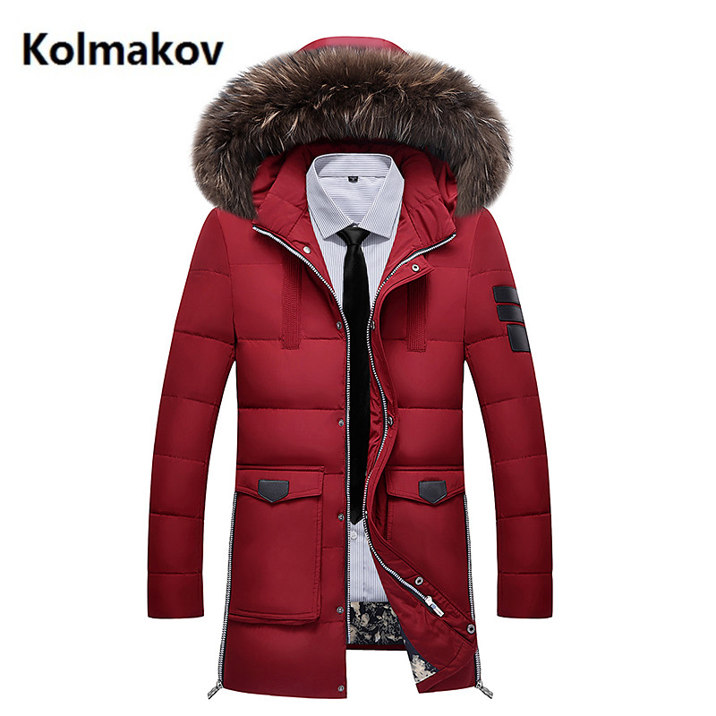2017 winter new Mens winter jackets thick white duck down hooded jacket men ,winter mens white duck down coat men 4 color