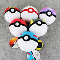2016 New Arrival 12cm Big Size Pokeball Plush Toys Stuffed Toy Gift Cartoon Anime Peluche Poke Ball Plush Doll Retail Tag 1pcs