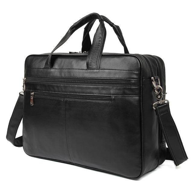 J.M.D  Genuine Leather Handbag For Men's Laptop Bag Top Handle Briefcases Travel Bag 7319A/7319C-1