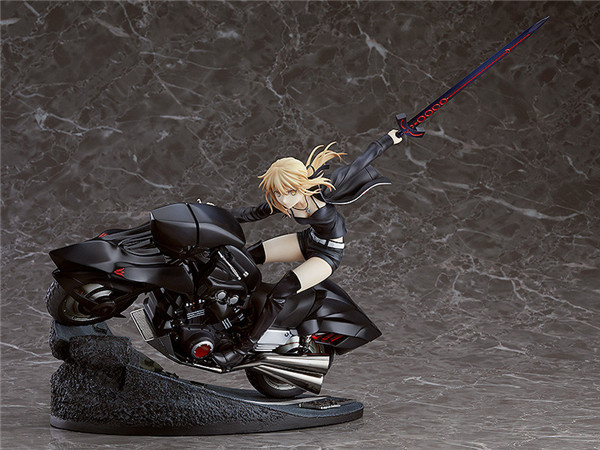 Anime Figure 25CM Fate/stay night Motorcycle Saber Arturia Pendragon PVC Figure Collectible Model Toys Gift Doll image