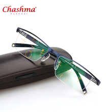 Titanium Alloy Multi-Focal Progressive Commercial Reading Glasses Men Diopter glasses Presbyopic Eyeglasses gafas de lectura