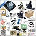 Alta calidad 3 Pistolas de Tatuaje Completo Kit de Equipos Conjuntos de Rotary máquina de Tinta + + fuente de Alimentación + Aguja + CD para Principiantes Arte Corporal # T