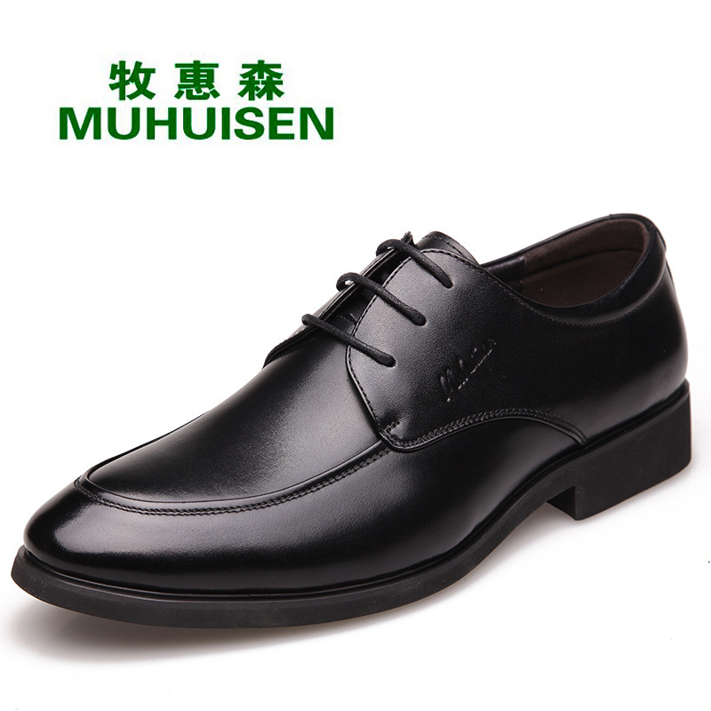 High Quality Men's Dress Shoes Genuine Leather Men Oxfords Shoes Pointed toe Lace up Business Shoes formal Wedding Dress X051823 top quality crocodile grain black oxfords mens dress shoes genuine leather business shoes mens formal wedding shoes