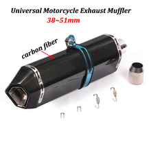 Full Carbon fiber Motorcycle Exhaust Muffler Modified Moto Tail Pipe For FZ1 FZ100 FZ800 FZ1N FZ8N FZ8 MT-09 MT-07