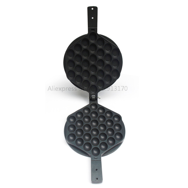 Egg Waffle Iron Egg Puffs Eggette Waffle Pan Nonstick Surface Cast-aluminum Waffle Maker Baking Bakeware Tool directly factory price commercial electric double head egg waffle maker for round waffle and rectangle waffle