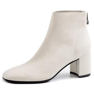 Image 2 - FEDONAS ฤดูหนาวผู้หญิงข้อเท้ารองเท้าแฟชั่นสแควร์ Toe รองเท้าส้นสูงของแท้ COW สิทธิบัตรหนังเชลซีรองเท้า PARTY รองเท้าผู้หญิง