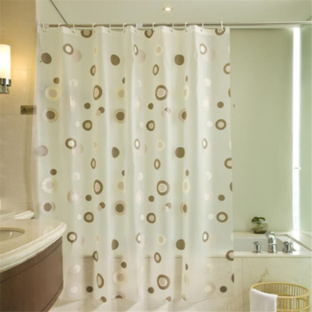 New Coffee Circle Bathroom Shower Curtain Waterproof Mildew Thickening Bath Intermittent PEVA Green