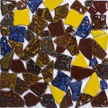 Piezas grandes de cerámica, fragmento Irregular, azulejo de mosaico Mashup, azulejo de camino de jardín, azulejo de piso, bañera de ducha de café, borde, decoración, estampado de leopardo
