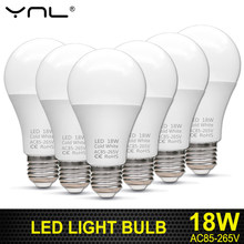 Bombillas E27 LED Light Bulb 220V 18W 15W 12W 9W 7W 5W 3W 85-265V Top Quality Ampoule Lampada LED E27 Lamp(China)