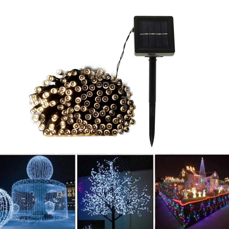 22M 200led Solar Led string light 12M 100LED RGB single color Decoration Light for Christmas Garden light Holiday Outdoor Fair