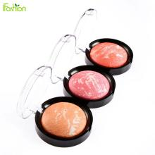 3PCS Blush Makeup For Women Beauty Face Blush Face Make up Baked Cheek Bronzer Blusher Palette Colorete Sleek Cosmetic Shadows
