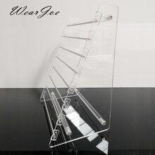 Прозрачная вращающаяся Европейская Подвеска для бусин, держатель для дисплея, браслет, серьги подвески, ювелирные изделия, витрина Shlef подвесной Органайзер