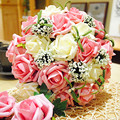 Cheap 2016 Wedding Accessories Bridal Bouquet Pink Red Purple Artificial Wedding Flowers Buque De Noiva Online Shopping