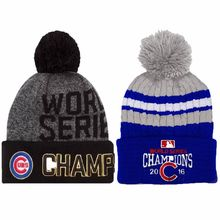 2016 Skullies World Series Champs Chicago Cubs Knit Cap Beanie Hat Gold  Rally Brand New Beanies 17e5d6c66d