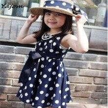Girls Summer Dress New Fashion Kids Children Cute Clothing Polka Dot Girl Chiffon Sundress Dress for Girls Children Ja 14