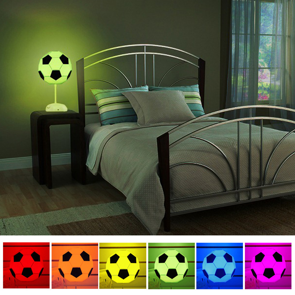 DIY Football USB Assembly Colorful Night Lights Soccer Lighting Fans Kids Adult Christmas Gift 2019 NEW
