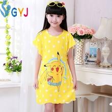 girls nightie kids nightgown girls nightgown Pikachu minnie  nightgowns children sleepwear girls princess pajamas sleeping dress