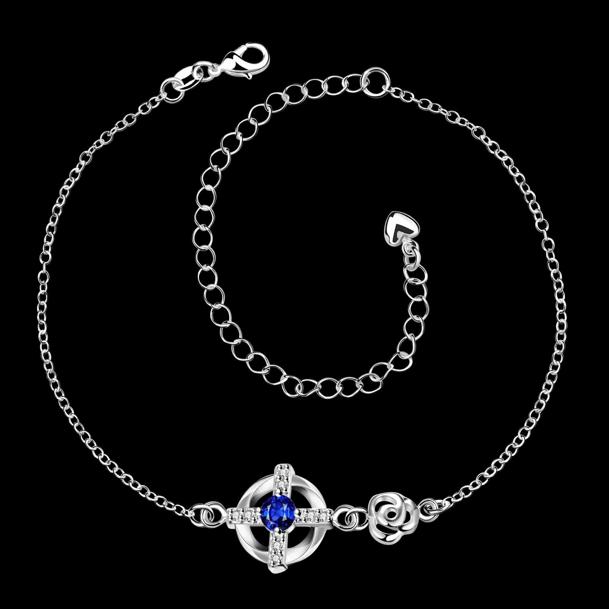 ladies metal silver artificial base anklet for imitation women anklets product