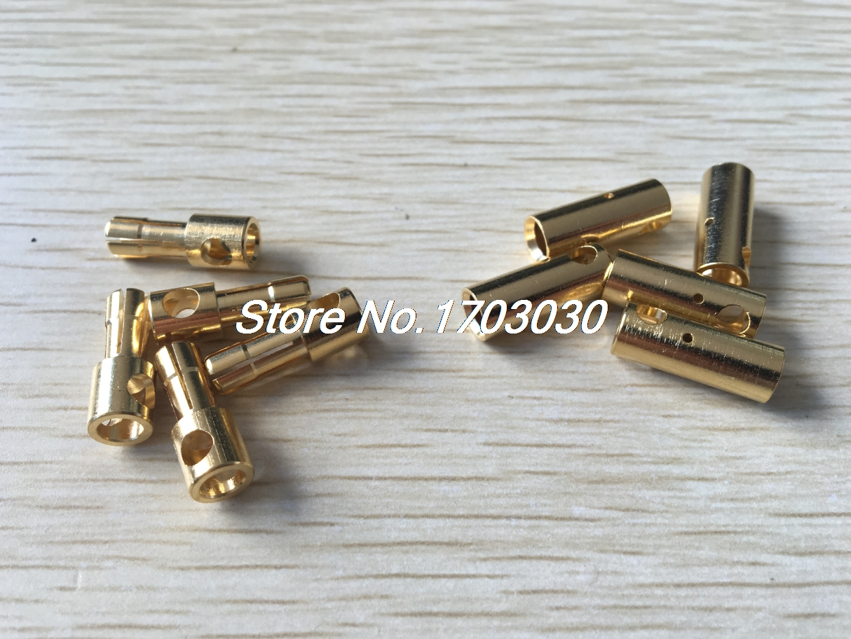 RC Model Gold Tone Metal Male Female Banana Bullet Plug Connector 5mm 5 Pairs imc hot new 20 pairs gold tone metal rc banana bullet plug connector male female 4mm