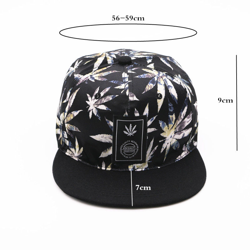 Topdudes.com - Maple Leaves Patch Work Adjustable Casual Baseball Cap