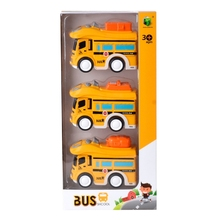 3 Pcs City Bus Inertial Cars Kids Toys Car Model Vehicles Baby Toy Layout Landscape Gift Boy Diecasts