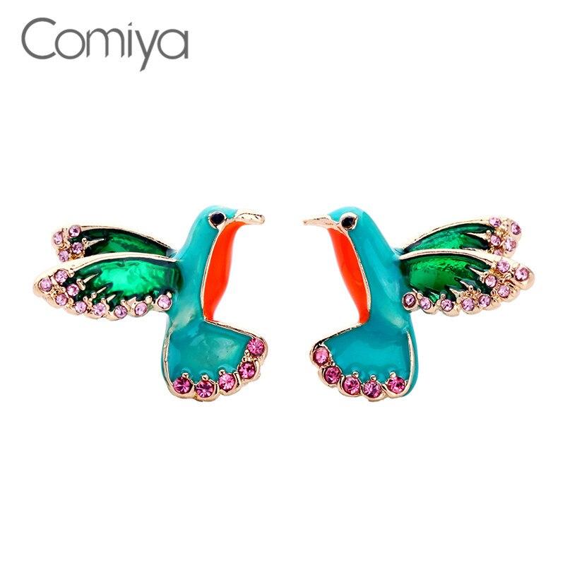 Comiya Fashion Designed Zinc Alloy Stud Earrings For Women Lovely Bird Orecchini Statement Accessories Big Earring Aliexpress